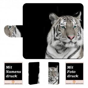 Nokia 2 Schutzhülle Handyhülle Tasche mit Tiger + Fotodruck