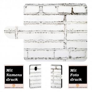 Nokia 3 Individuelle Handy Hülle mit Weiße Mauer + Bilddruck Text