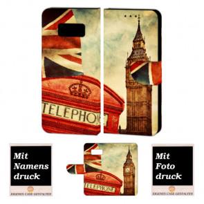 Samsung Galaxy S7 Handy Hülle Tasche mit Big Ben-London + Bild +Text Druck