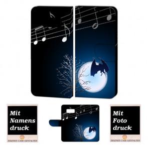 Samsung Galaxy S7 Handyhülle Tasche mit Fledermaus- Mond + Fotodruck