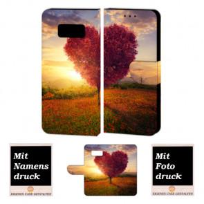 Samsung Galaxy S7 Personalisierte Handyhülle mit Herzbaum + Bilddruck