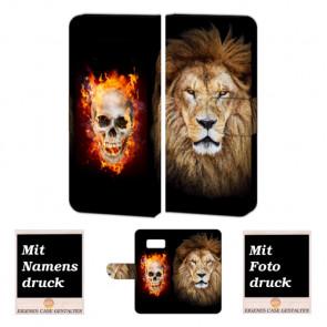 Samsung Galaxy S7 Handyhülle Tasche mit Löwe -Totenschädel + Bilddruck