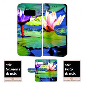 Samsung Galaxy S8 Handyhüllen mit Lotosblumen + Bild Text Druck