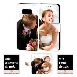 PU-Ledertasche für Samsung Galaxy S8 mit Foto und Text Druck