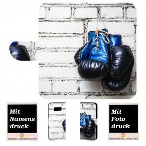 Handy Tasche für Samsung Galaxy S8  mit Boxhandschuhe + Bilddruck