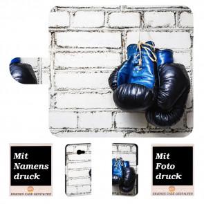 Samsung Galaxy A5 (2017) Handy Tasche mit Boxhandschuhe +Fotodruck