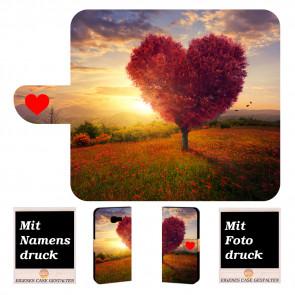 Handy Hülle mit Herzbaum Fotodruck für Samsung Galaxy Xcover 4s Etui