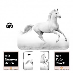 Samsung Galaxy A7 (2017) Personalisierte Handy Tasche Hülle mit Pferd + Foto Druck