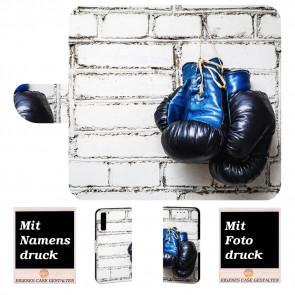 Samsung Galaxy A7 (2018) Handyhülle mit Boxhandschuhe + Bilddruck