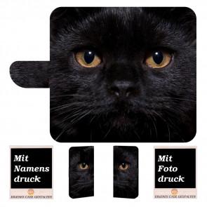 Samsung Galaxy A8 (2018) Personalisierte Handyhülle mit Foto selbst gestalten Schwarz Katze