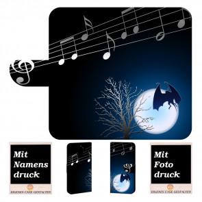 Samsung Galaxy J6 + (2018) Handytasche mit Fledermaus- Mond  Fotodruck