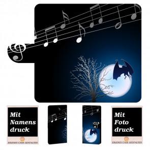 Samsung Galaxy Note 9 Handy Tasche mit Fledermaus- Mond + Fotodruck