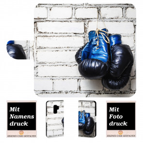 Samsung Galaxy S9 Handy Hülle mit Boxhandschuhe + Bilddruck Text