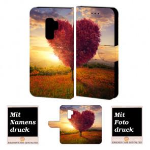 Samsung Galaxy S9 Plus Gestalte ihre eigene Foto Personalisierte Handytasche Herzbaum