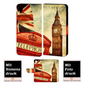 Sony Xperia X Handy Hülle Tasche mit Big Ben-London + Bild Druck