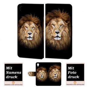 Sony Xperia X Personalisierte Handy Tasche mit Löwe + Foto Logo Druck