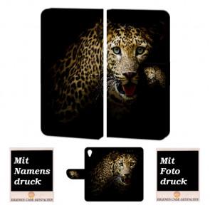 Personalisierte Handyhülle mit Leopard Fotodruck für Sony Xperia X