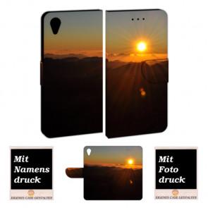 Handy Hülle mit Bilddruck Sonnenaufgang für Sony Xperia XA1 Etui