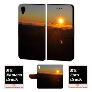 Handy Tasche Hülle mit Fotodruck Sonnenaufgang für Sony Xperia X