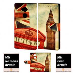 Sony XA2 Handy Hülle Tasche mit Big Ben-London + Bild +Text Druck