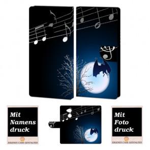 Sony L2 Schutzhülle Handy Hülle mit Fledermaus- Mond + Foto + Text Druck