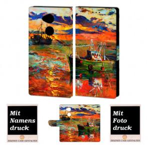 Sony L2 Personalisierte Handy Hülle Tasche mit Gemälde + Foto Text Druck