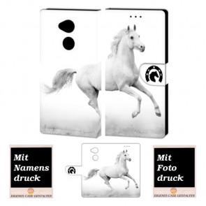 Sony XA2 Personalisierte Handy Hülle Etui mit Pferd + Bild + Text Druck