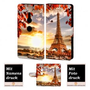 Sony XZ2 Personalisierte Handyhülle mit Eiffelturm + Foto Text Druck Etui