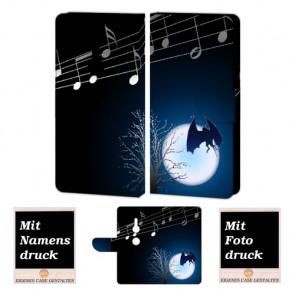 Sony Xperia XZ2 Schutzhülle Handy mit Fledermaus- Mond + Foto Druck