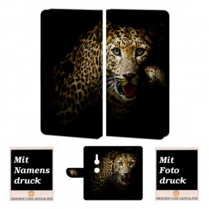 Sony Xperia XZ3 Personalisierte Handyhülle mit Leopard + Fotodruck Etui