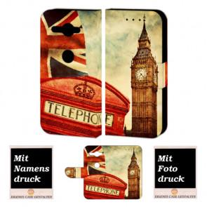 Sony XZ2 Compact Handy Hülle Tasche mit Big Ben-London + Foto +Text Druck Etui