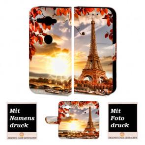 Sony XZ2 Compact Handy Hülle Tasche mit Eiffelturm + Foto + Text + Druck