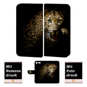 Sony XZ Premium Schutzhülle Handy Tasche mit Leopard + Foto Druck Etui