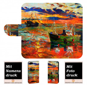 Wiko Lenny 3 Max Handy Hülle Tasche mit Foto Druck Gemälde