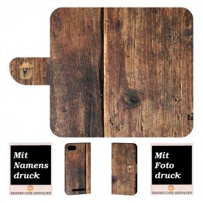 Wiko Lenny 3 Max Personalisierte Handy Hülle mit Foto Druck HolzOptik