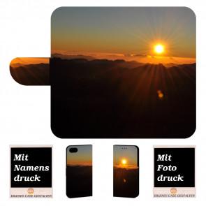 Wiko Lenny 3 Max Handy Hülle Tasche mit Foto Druck Sonnenaufgang