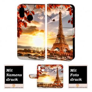 Personalisierte Handy Hülle für Huawei P20 Lite mit Eiffelturm + Foto + Druck