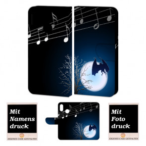 Huawei P20 Lite Handy Hülle mit Fledermaus- Mond Foto Druck