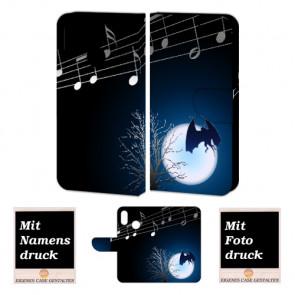 Huawei P Smart Plus Schutzhülle Handy Hülle mit Fledermaus- Mond + Foto Druck