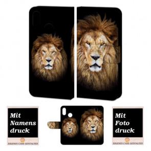 Huawei P20 Lite Personalisierte Handy Hülle Tasche mit Löwe + Bild Text Druck