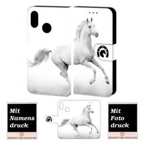 Huawei P Smart Plus Personalisierte Handyhülle mit Pferd + Foto Druck Etui