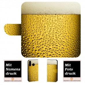 Schutzhülle Handy Tasche für Samsung Galaxy M20 mit Bier Fotodruck