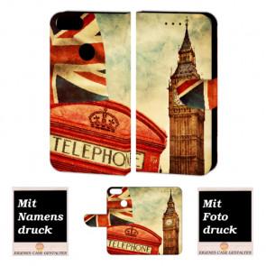 One Plus 5 Handy Hülle Tasche Etui mit Big Ben-London + Bild +Text + Druck