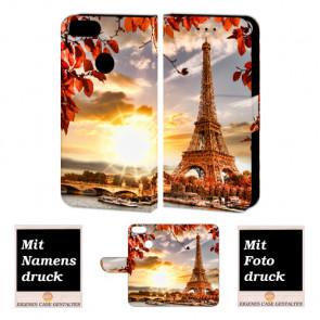 One Plus 5 Personalisierte Handy Hülle Etui mit Eiffelturm + Bild + Text + Druck
