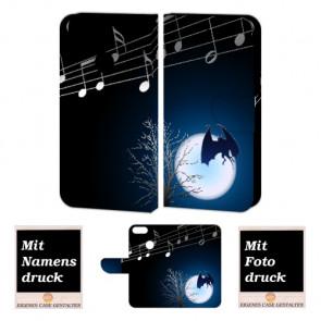 One Plus 5 Schutzhülle Handyhülle Tasche mit Fledermaus- Mond + Foto Text Druck