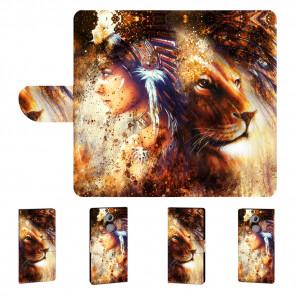 Sony Xperia XA2 Handyhülle mit Indianer - Löwe - Gemälde Bilddruck