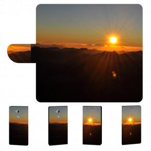 Sony Xperia XA2 Ultra Handy Tasche mit Sonnenaufgang Fotodruck