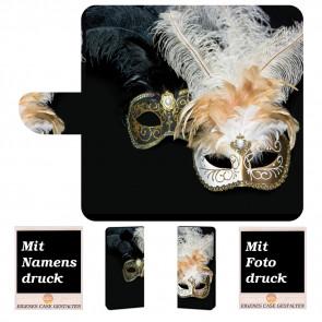 Handyhülle Etui für Sony Xperia XA3 Ultra mit Masken Fotodruck