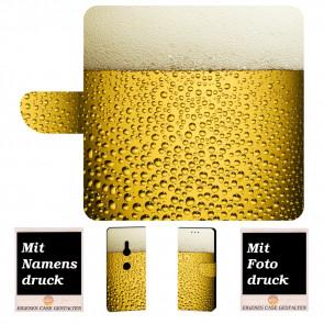 Personalisierte Handyhülle mit Bier + Fotodruck für Sony Xperia XZ2