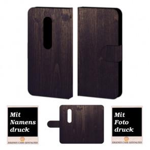 Moto G (3nd Gen) 2015 Holz Optik Handy Tasche Hülle Foto Bild Druck